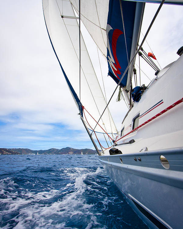3scape Photos Poster featuring the photograph Sailing Bvi by Adam Romanowicz