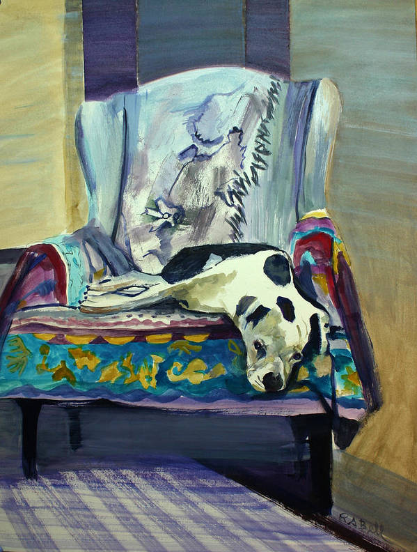 Sailor's Chair Poster featuring the painting Sailor's Chair by Randy Bell