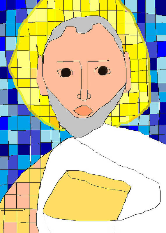 Saint Paul Poster featuring the painting Saint Paul by Anita Dale Livaditis