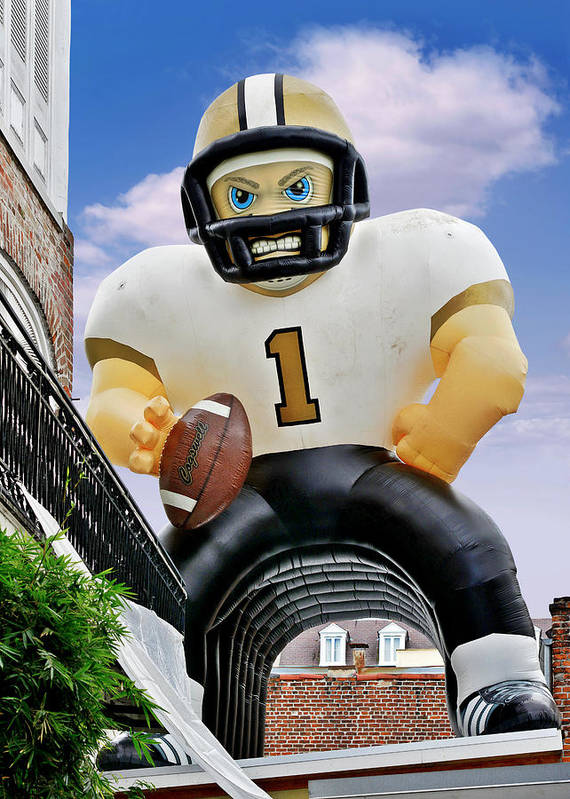 Saints Poster featuring the photograph Saints New Orleans by Christine Till