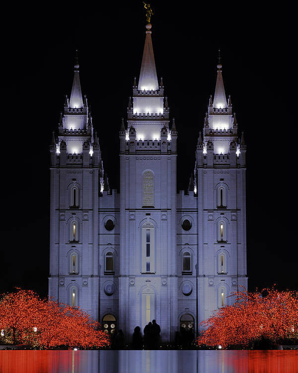 Salt Lake Christmas Poster featuring the photograph Salt Lake Christmas by Chad Dutson