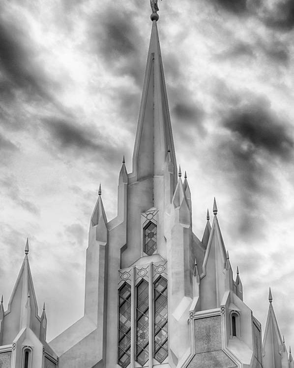 San Diego Poster featuring the photograph San Diego Temple by Kevin Rowe