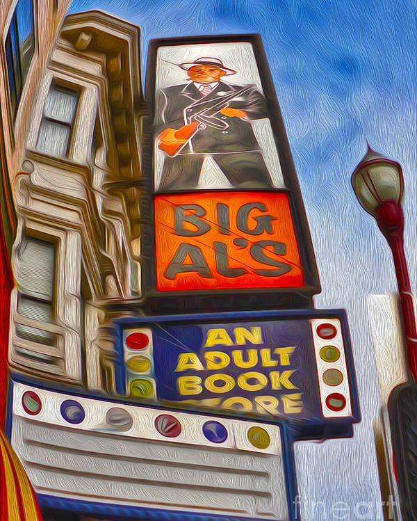 San Francisco Poster featuring the painting San Francisco - North Beach - 04 by Gregory Dyer