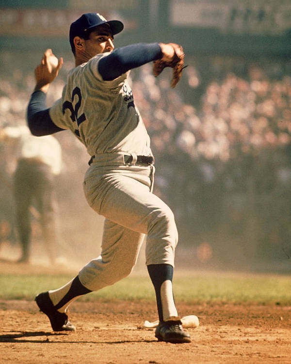 Marvin Newman Poster featuring the photograph Sandy Koufax by Retro Images Archive