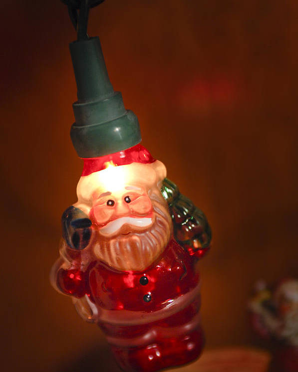 Santa Claus Poster featuring the photograph Santa Claus - Antique Ornament - 06 by Jill Reger