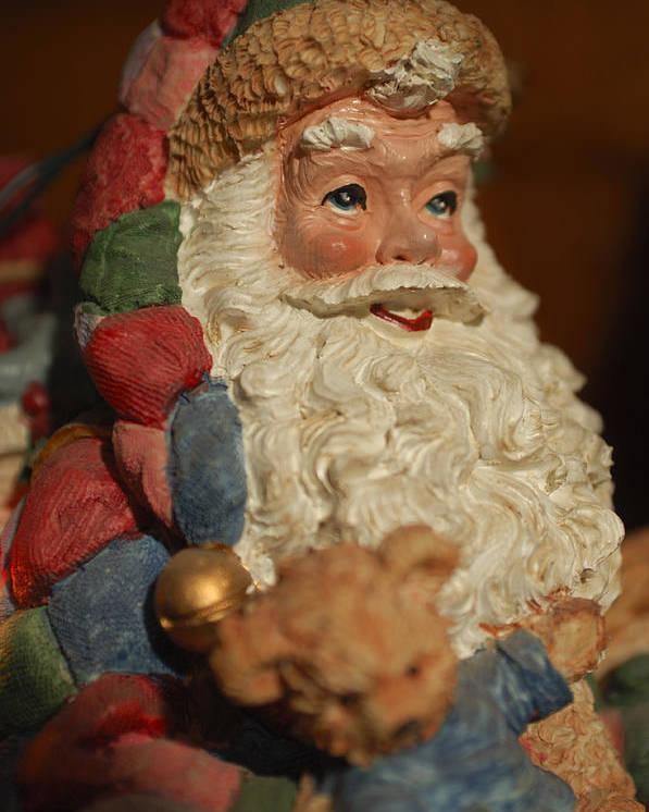 Santa Claus Poster featuring the photograph Santa Claus - Antique Ornament - 09 by Jill Reger