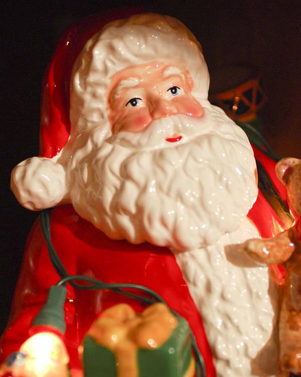 Santa Claus Poster featuring the photograph Santa Claus - Antique Ornament - 13 by Jill Reger
