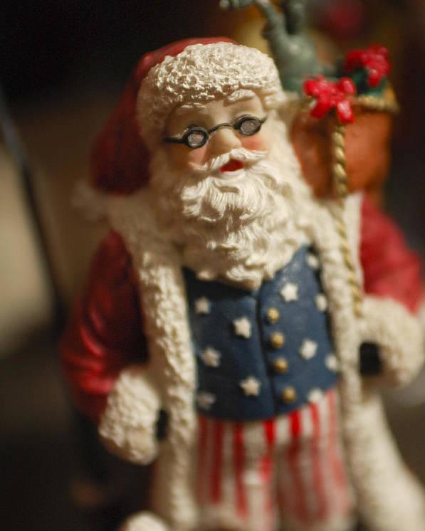 Santa Claus Poster featuring the photograph Santa Claus - Antique Ornament - 15 by Jill Reger
