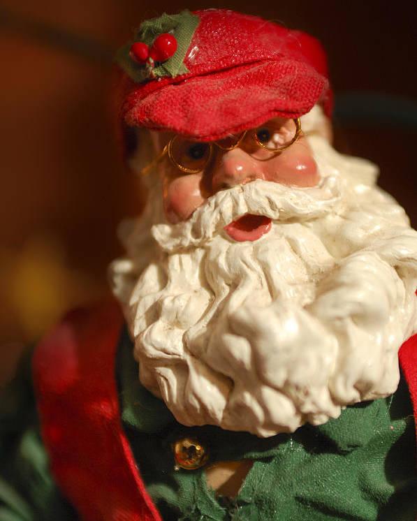 Santa Claus Poster featuring the photograph Santa Claus - Antique Ornament - 16 by Jill Reger