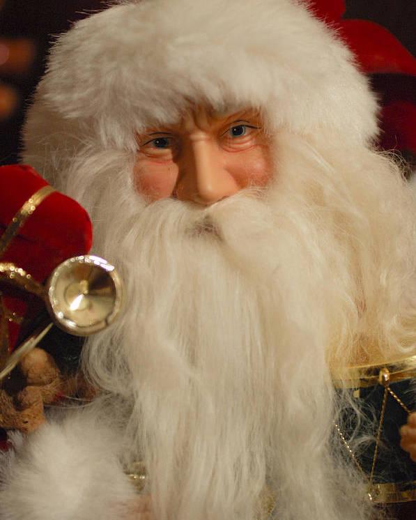 Santa Claus Poster featuring the photograph Santa Claus - Antique Ornament - 17 by Jill Reger