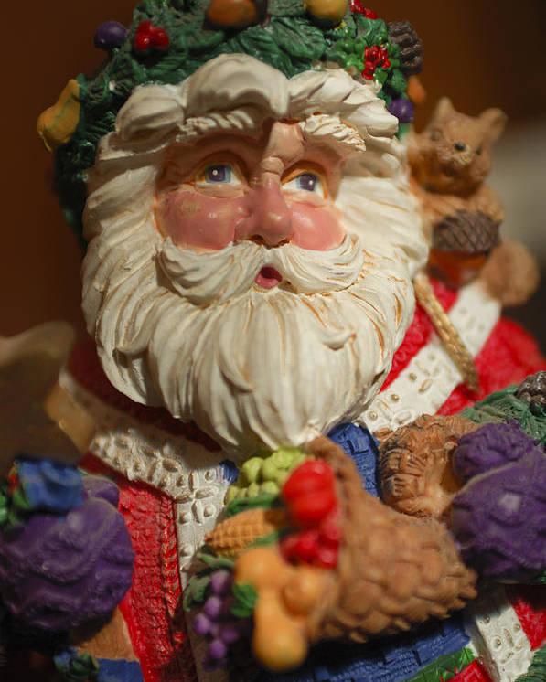 Santa Claus Poster featuring the photograph Santa Claus - Antique Ornament - 20 by Jill Reger