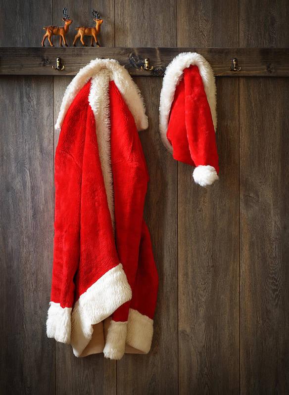 Santa Poster featuring the photograph Santa's Coat by Amanda Elwell