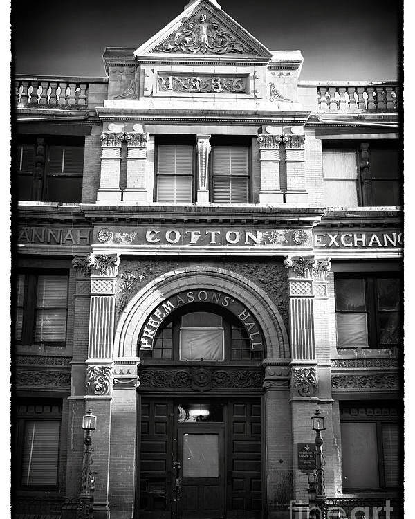 Savannah Cotton Exchange Poster featuring the photograph Savannah Cotton Exchange by John Rizzuto