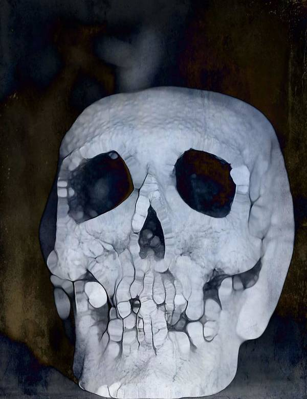 Scary Skull Poster featuring the photograph Scary Skull by Dan Sproul