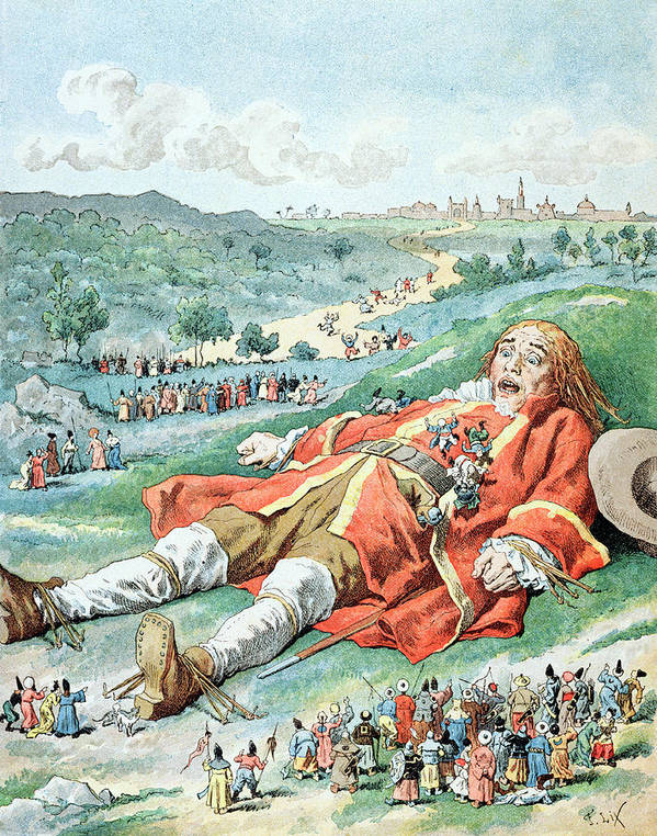 'gulliver's Travels' Poster featuring the painting Scene From Gullivers Travels by Frederic Lix