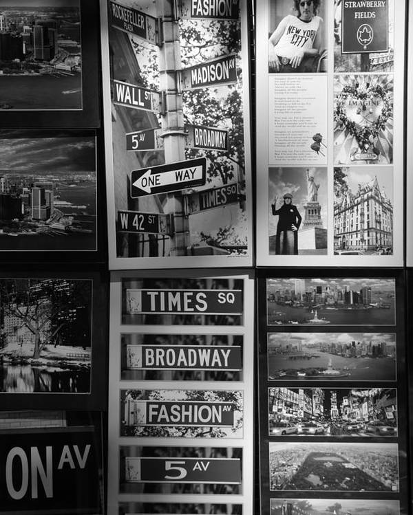 Black And White Poster featuring the photograph Scenes Of New York In Black And White by Rob Hans