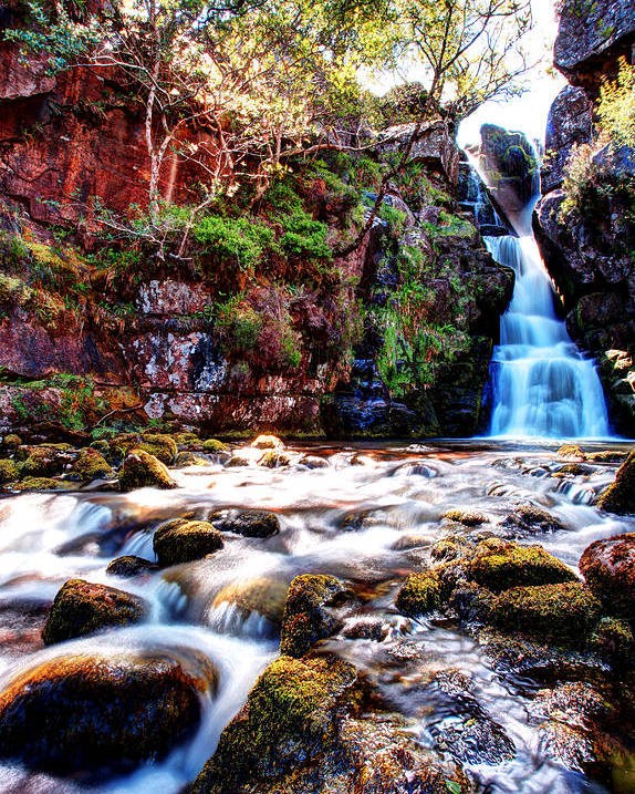 Scotland Poster featuring the photograph Scotish Waterfall by Ollie Taylor