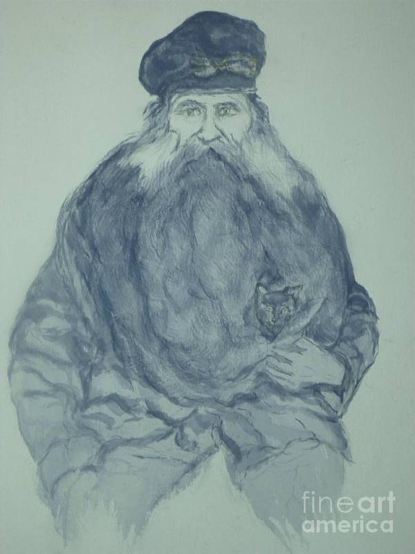 Sea Captain Poster featuring the painting Sea Captain by Nancy Caccioppo