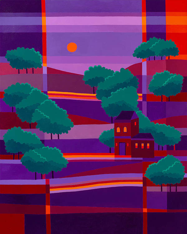 Secluded Villa Poster featuring the painting Secluded Villa by Michael Jernegan