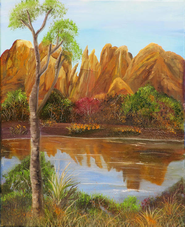 Sedona Poster featuring the painting Sedona Summer by Mikki Alhart