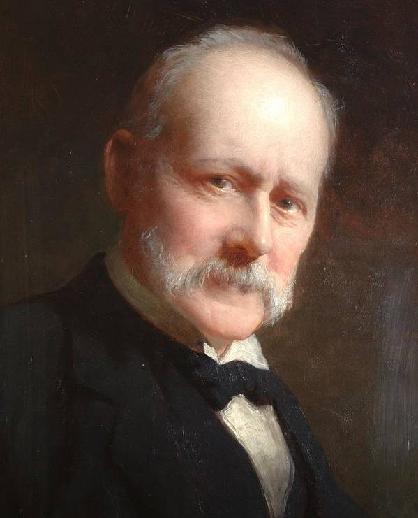 Male Poster featuring the painting Self Portrait, 1899 by George Elgar Hicks