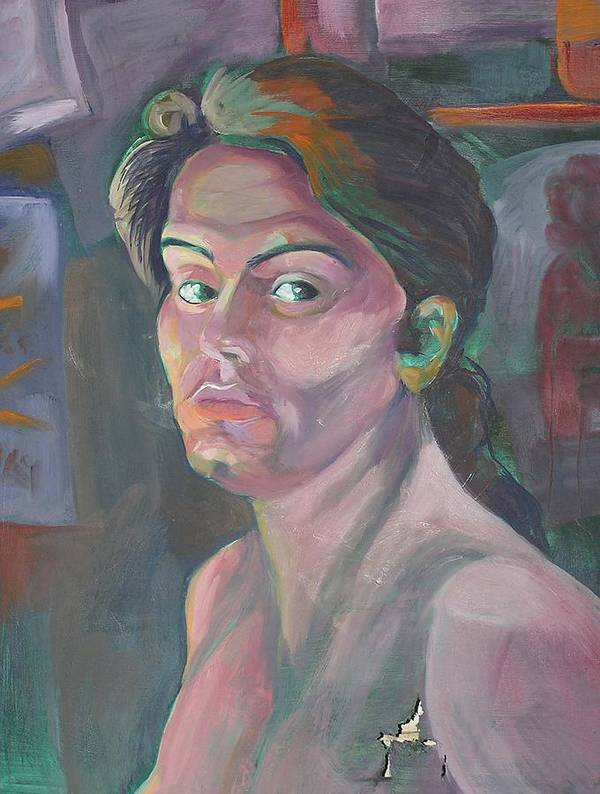 Poster featuring the painting Self Portrait by Julie Orsini Shakher