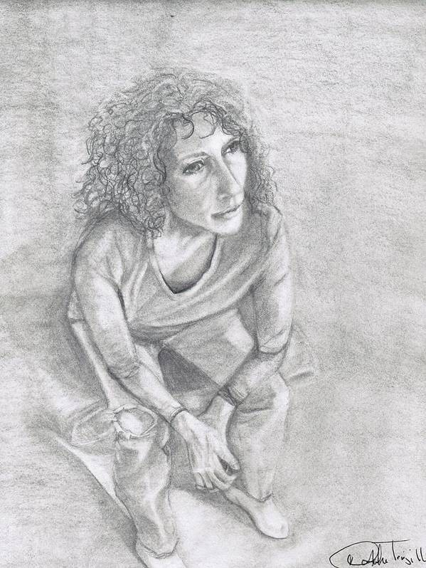 Self Portrait Poster featuring the drawing Self Portrait Of Natalie Trujillo by Natalie Trujillo