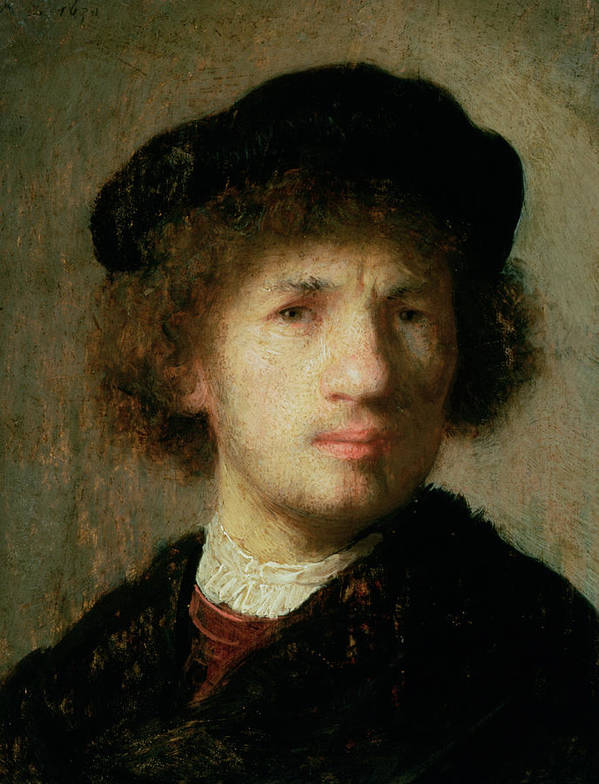 Artist Poster featuring the painting Self Portrait by Rembrandt Harmenszoon van Rijn
