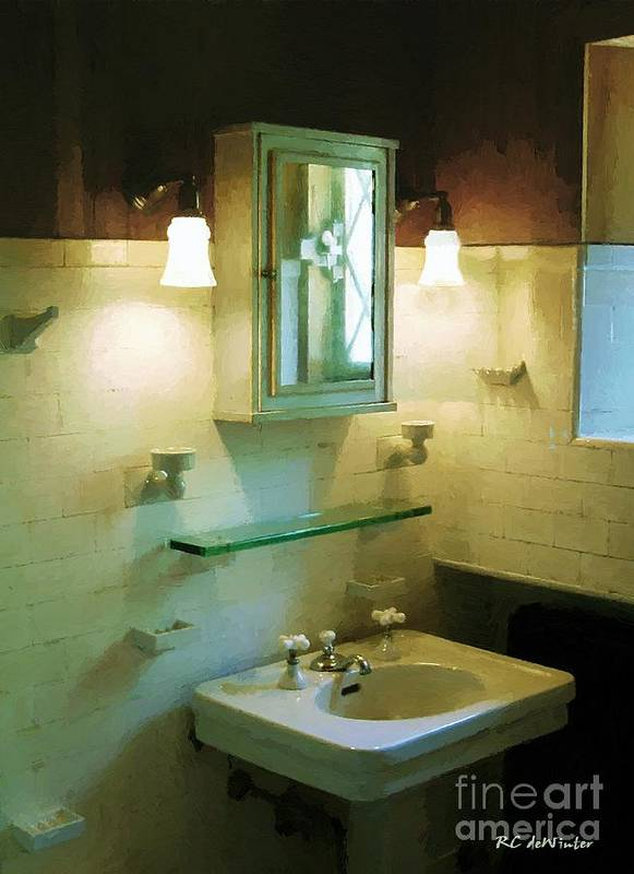 Americana Poster featuring the painting Seventh Sister's Master Bath by RC DeWinter
