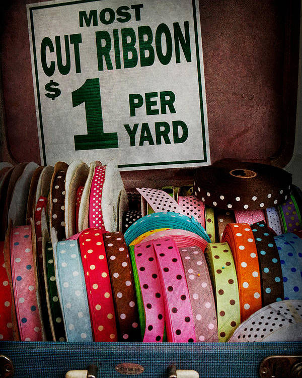 Hdr Poster featuring the photograph Sewing - Ribbon By The Yard by Mike Savad