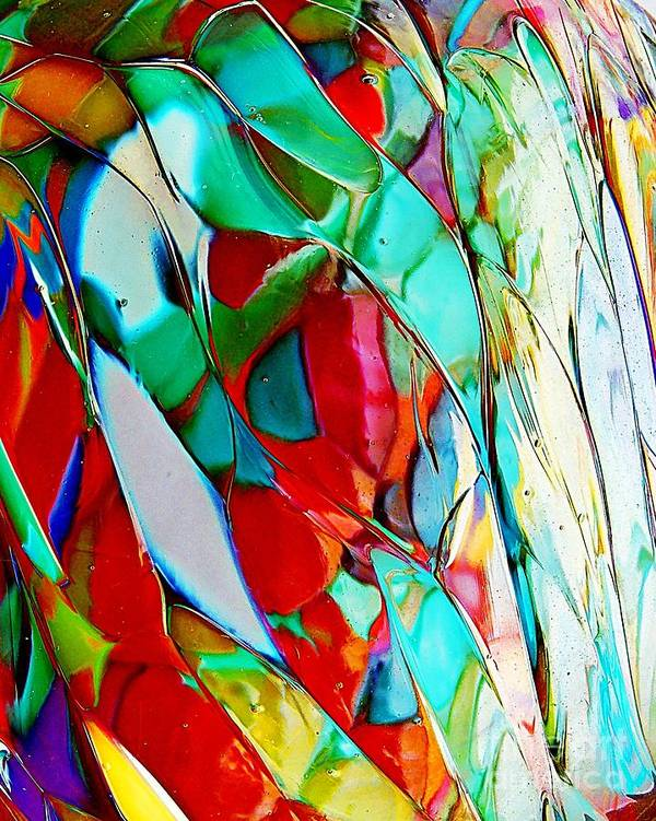 Abstract Poster featuring the photograph Shades Of Excitement by Marcia Lee Jones