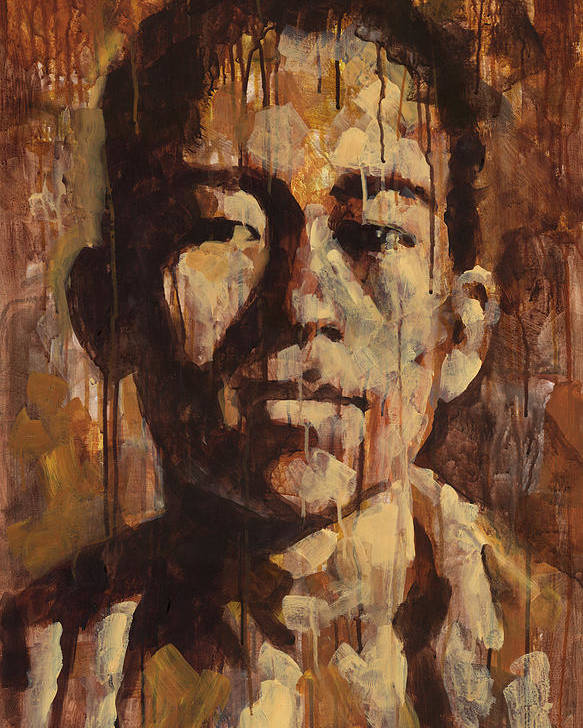 Face Poster featuring the painting Shades Of Khanh by Douglas Simonson