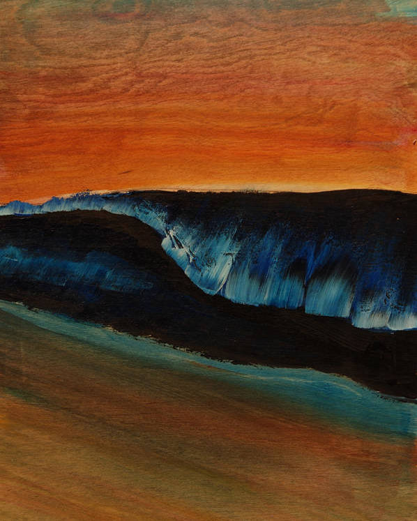Surf Prints Poster featuring the painting Shallow by Nathan Paul Gibbs