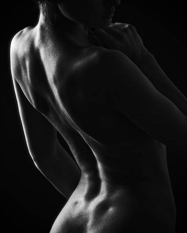 Nude Poster featuring the photograph Shape by Aurimas Valevicius