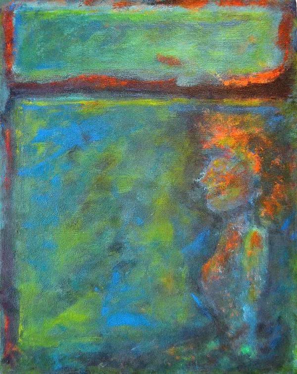 Mixed Media Poster featuring the painting She Thinks And She Is by Lisa Kaye