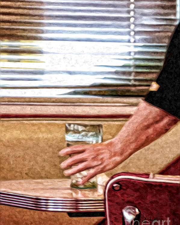Diner Poster featuring the photograph She Works Hard For The Money by Lois Bryan