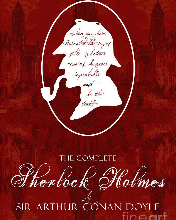 Sherlock Holmes Book Cover Poster Art 2 Poster By Nishanth
