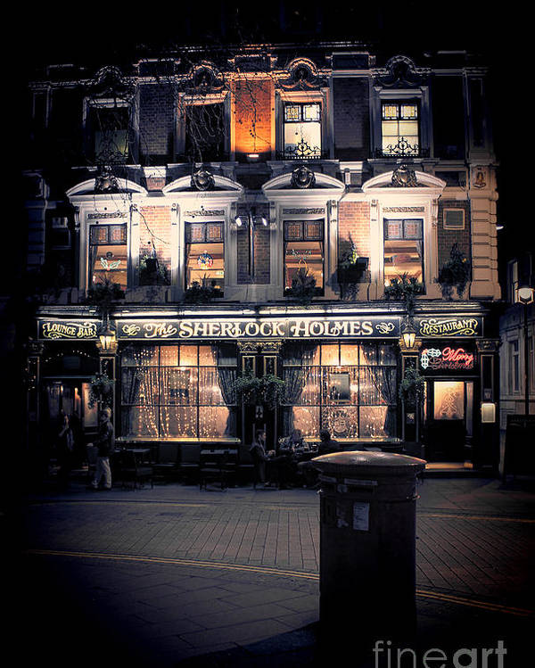Sherlock Holmes Poster featuring the photograph Sherlock Holmes Pub by Jasna Buncic