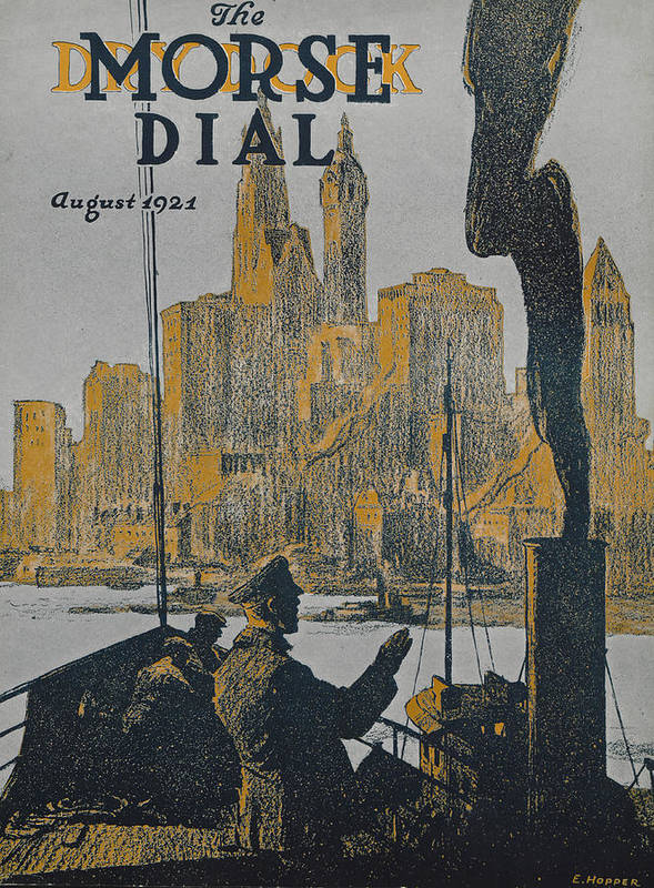 The Morse Dial Poster featuring the painting Ship Approaching Land by Edward Hopper