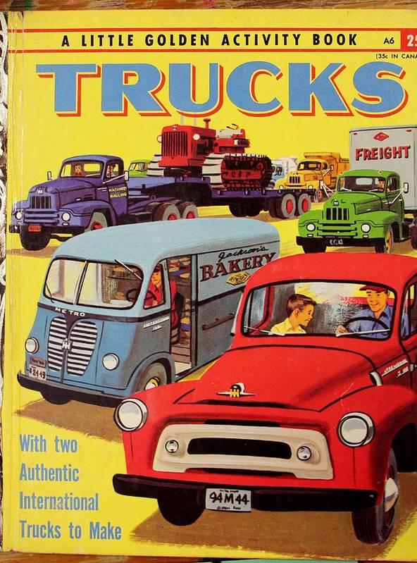 Childrens Book Vintage Trucks by Nelson Skinner