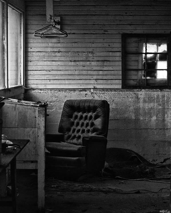 Chair Poster featuring the photograph Silence by Off The Beaten Path Photography - Andrew Alexander