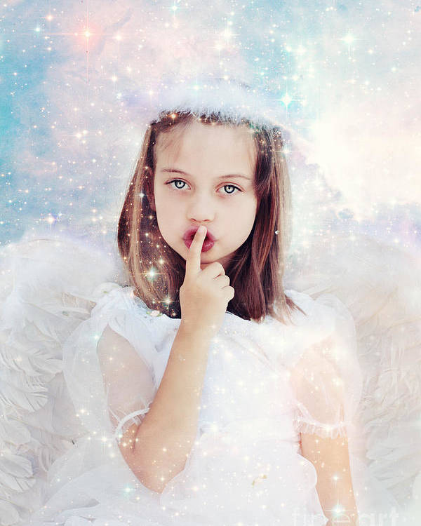 Angel Poster featuring the photograph Silent Angel by Stephanie Frey