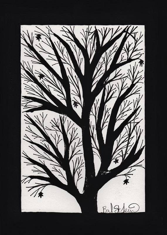 Silhouette Maple Poster featuring the painting Silhouette Maple by Barbara St Jean