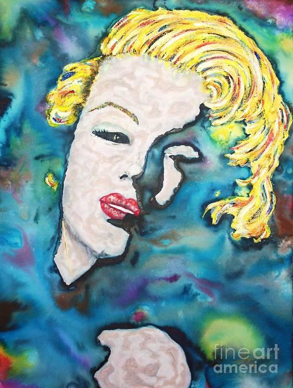 Marilyn Monroe Poster featuring the painting Simply Monroe by Van David