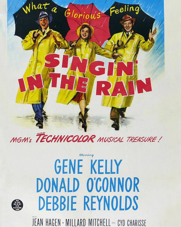 Singin In The Rain Poster featuring the digital art Singin In The Rain by Georgia Fowler