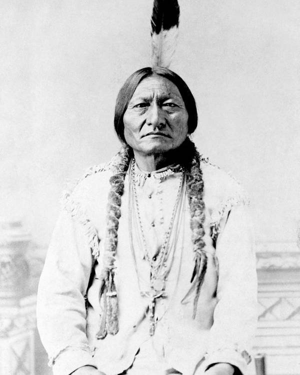 Native American Poster featuring the photograph Sioux Chief Sitting Bull by War Is Hell Store
