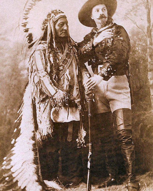 Sitting Bull And Buffalo Bill Poster featuring the photograph Sitting Bull And Buffalo Bill by Unknown