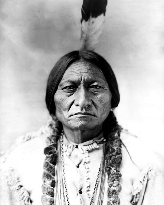 Sitting Bull Poster featuring the photograph Sitting Bull by Bill Cannon