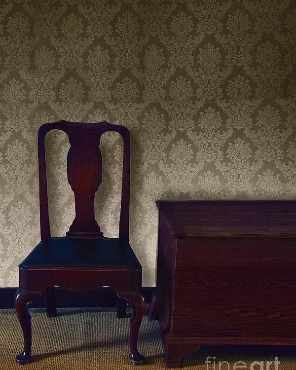 Chair Poster featuring the photograph Sitting Room At Dusk by Margie Hurwich