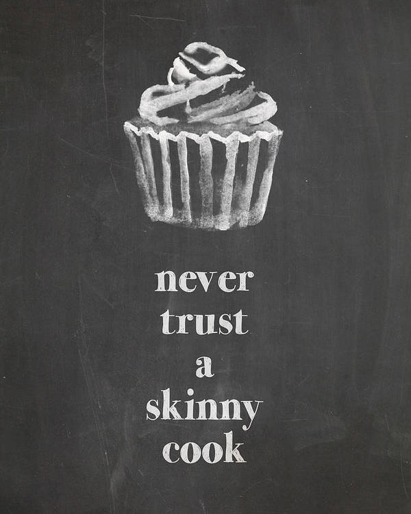 Chalk Poster featuring the digital art Skinny Cook by Nancy Ingersoll